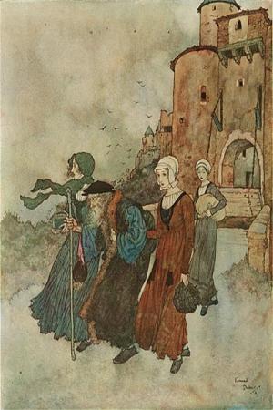 Иллюстрация к сказке Андерсена 'Ветер рассказывает о Вальдемаре До и его дочерях'