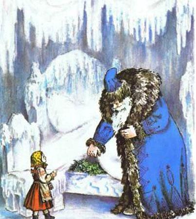 Иллюстрация к сказке Одоевского 'Мороз Иванович'