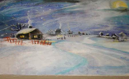 Иллюстрация к стихотворению Пушкина 'Зимний вечер'