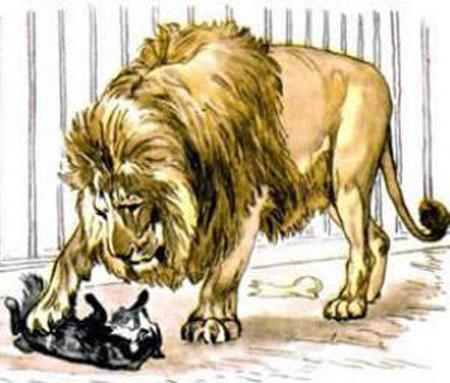 Иллюстрация к рассказу Толстого Л.Н. 'Лев и собачка'