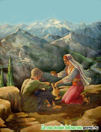 Иллюстрация к рассказу Толстого Л.Н. 'Кавказский пленник'