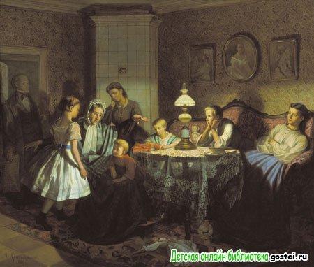 Иллюстрация к стихотворению Есенина С.А. 'Бабушкины сказки'