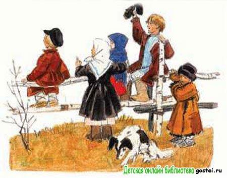 Иллюстрация к поэме в стихах Некрасова Н.А. 'Крестьянские дети'
