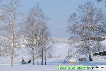 Фото иллюстрация к стихотворению Пушкина А.С. 'Зима!.. Крестьянин торжествуя..'