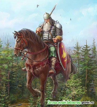 Иллюстрация к былине 'Как Илья из Мурома богатырем стал'