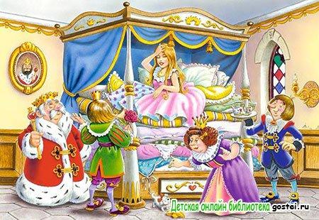 Иллюстрация к сказке Андерсена 'Принцесса на горошине'