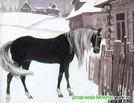Конь пришел к дому Фильки